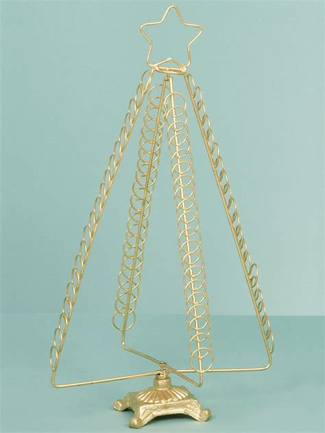 metal christmas card holder freestanding tree 50cm gold