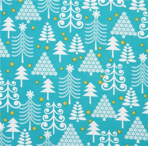 pattern paper michaels turquoise michael miller christmas fabric holiday trees