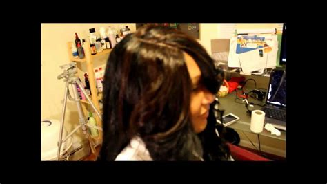 quick weave no leave out quick weave with 3d part no leave out for high ponytail