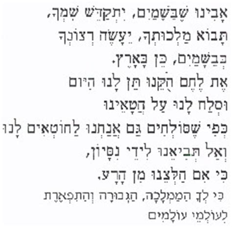 padre nostro in aramaico testo mutate mente