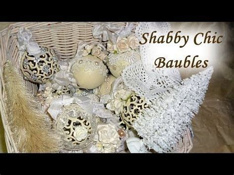 diy altered shabby chic vintage christmas baubles