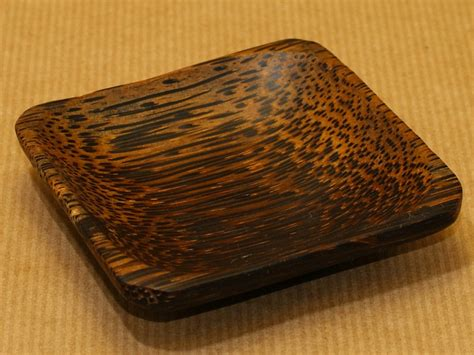 Japanese Lotus Square Plate L 15cm W 15cm H 35cm 1 coconut wood mixing trays at incense incenses