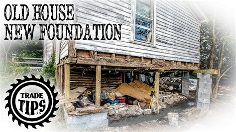 How to Jack Up A House and Build a House Foundation Under