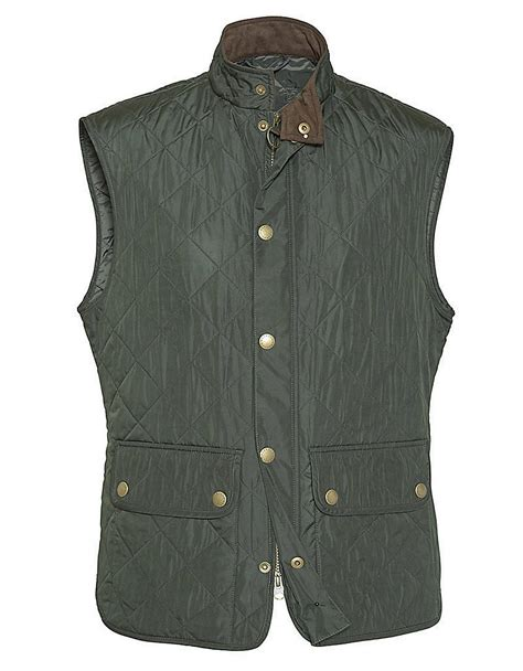 Quilted Vest by Barbour Lowerdale Quilted Polar Fleece Gilet Vest In Green For Lyst