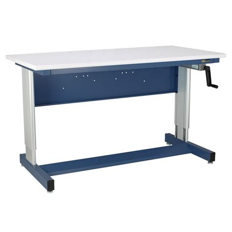 Benches Tables Iac Iac Hand Crank Height Adjustable Industrial Workbench