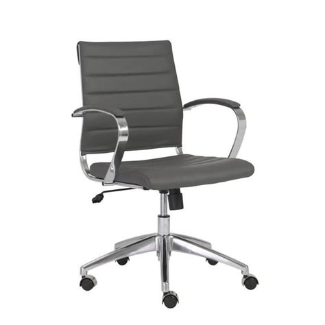Office Chairs With Arms Eurostyle Axel Low Back Office Chair With Arms In Gray