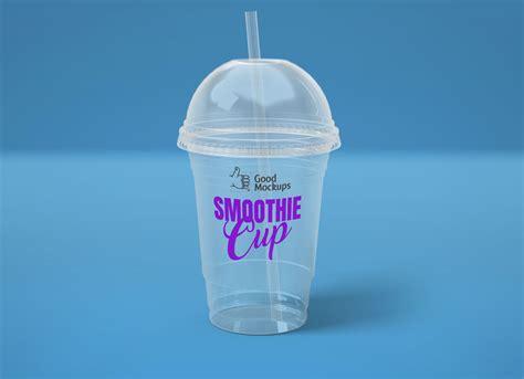 transparent disponsable plastic smoothie ice cream