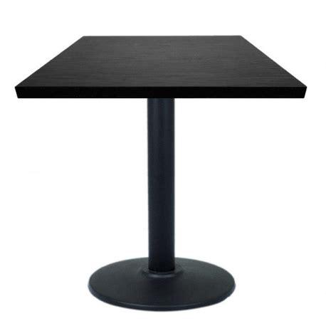 table restaurant 60x60 cm plateau bois et pied m 233 tal noir