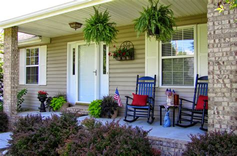 Outdoor Decorating Ideas Front Porch outdoor rocking chair front porch furniture with patriotic decoration attractive home porch