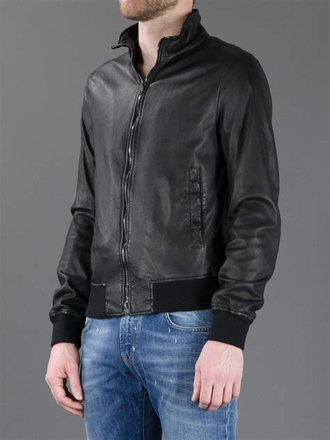 Dolce Jacket dolce gabbana leather jacket in black for lyst