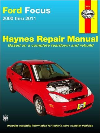 auto repair manual online 2000 ford focus transmission control ford focus 2 0l 2 0l spi zetec 2 3l repair manual 2000 2011