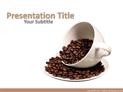 Free Cafe Powerpoint Templates Myfreeppt Com Coffee Powerpoint Template Free