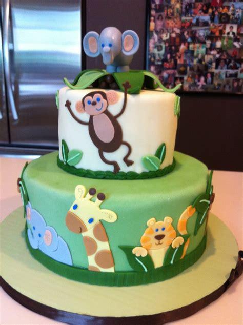 jungle theme baby shower cake safari themed baby shower cakes