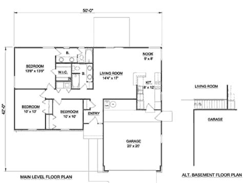 1250 Sq Ft House Plans Ranch Style House Plan 3 Beds 2 00 Baths 1250 Sq Ft Plan 116 170