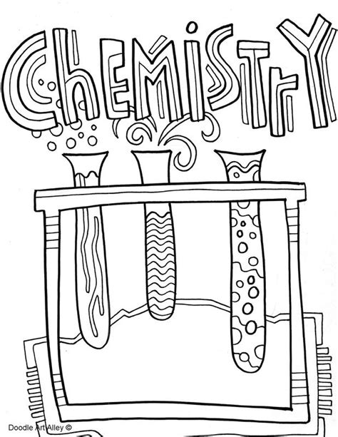 picture coloring binder covers chemistry classroom