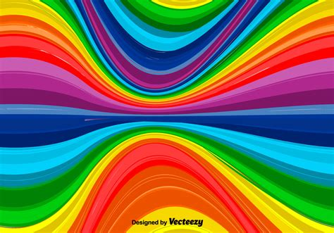 Rainbow Of vector wavy rainbow background free vector
