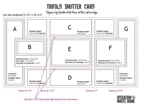 tri fold cards template with opening 8 best images about trifold cards on