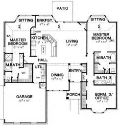house plans with two master suites on first floor