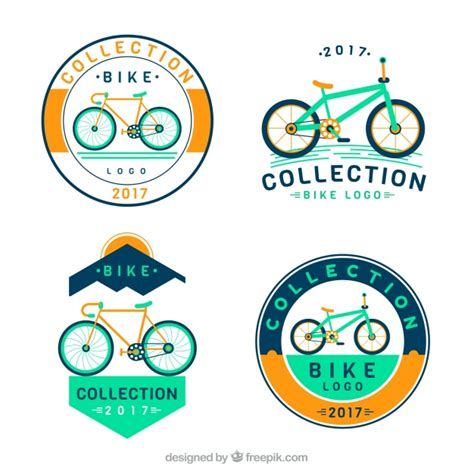 Aufkleber Fahrrad Registriert by Retro Fahrrad Aufkleber Pack Der Kostenlosen Vektor