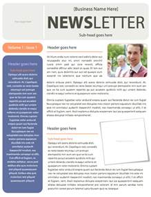 Office Newsletter Template by Simple Business Newsletter Template Microsoft Word File