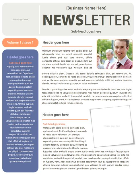 word template for newsletter business newsletter templates microsoft word www