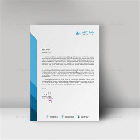 professional stationery templates 12 free letterhead templates in psd ms word and pdf