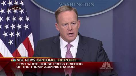 sean spicer how tall white house press secretary sean spicer our intention is