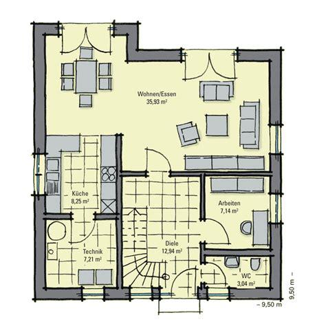 Grundriss Eg Einfamilienhaus by Einfamilienhaus Guenstig Bauen Buchenallee Variante 3