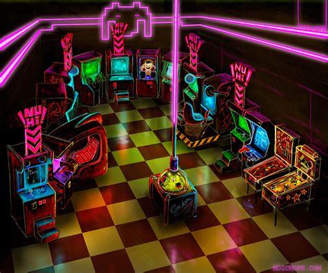 game design interior video game arcade mozchops art and design mozchops art