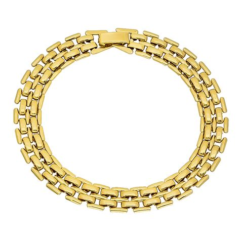 14k gold 9mm 14k gold plated panther chain ebay