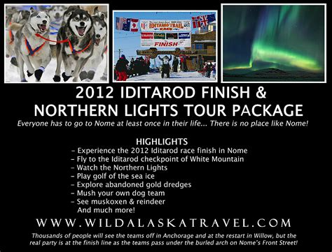 northern lights packages alaska 2012 iditarod finish and northern lights tour package