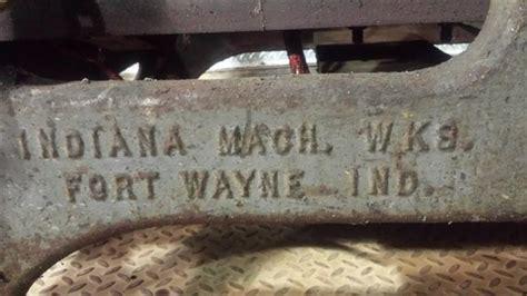 photo index indiana machine works machine base