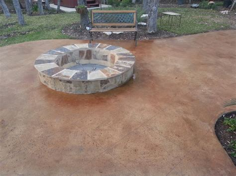 image of stained concrete patio how to clean stained