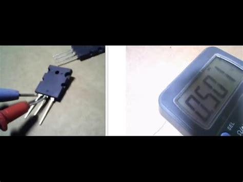 transistor mosfet como testar como probar o medir transistores con un mult 237 metro 2016 checar transistor con el tester
