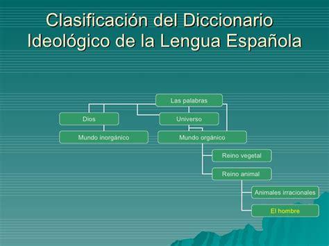diccionario ideologico de la l 201 xico del espa 209 ol actual