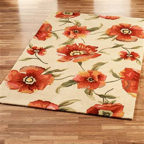 flower area rug poppies area rugs