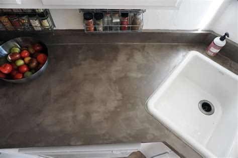Kitchen Countertops by Lovely Imperfection Diy Concrete Countertops Over