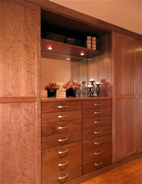 Cherry Wood Closet by Closet Gallery By Valet Custom Cabinets Closets