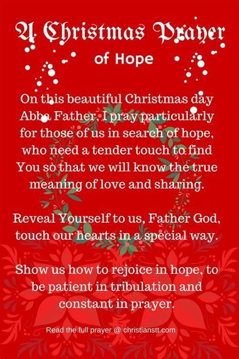 christmas day prayer  hope blessings prayers  hope christmas prayer prayers