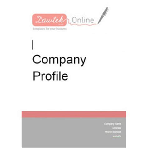 simple business company profile templates in wo