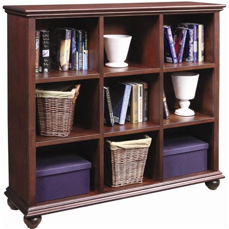 ct4949 chy aspen home furniture 48in cube and bookcase cherry
