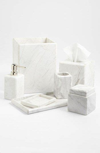 studio bathroom accessories waterworks studio white marble covered jar