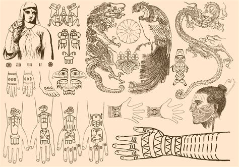 ancient art tattoo ancient tattoos free vector stock graphics