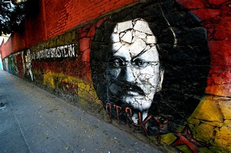 trotskyist graffiti mexico city photo