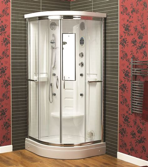 Shower Cabinet by Aqualux Florenta Quadrant Steam Shower Enclosure Cabin