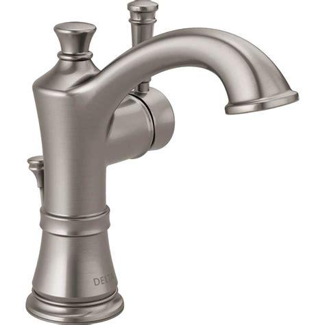 delta brushed nickel kitchen faucet shop delta valdosta spotshield brushed nickel 1 handle 4