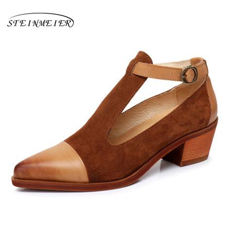 Handmade Designer Shoes - genuine leather yinzo designer vintage pumps shoes pointed