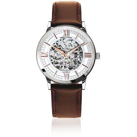 montre lannier 319a124 montre automatique cuir marron homme sur bijourama montre
