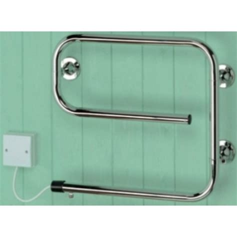 chrome bathroom towel rails sunhouse str50c 50w electric bathroom towel rail in chrome