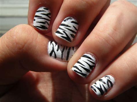zebra pattern nail design black and white nail designs for short nails best nails 2018